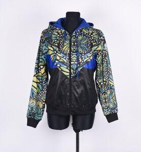 Adidas à Capuche Multi-Coloré Imprimé Floral Femmes Taille Veste I-44, UK-12