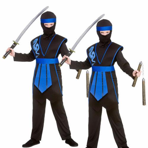 Samurai Ninja Kids Fancy Dress Costume Arts Martiaux Ninjas Costume Âge 5-13