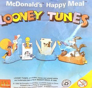 McDonalds-Happy-Meal-Toy-1996-Looney-Tunes-Walt-Disney-Figures-Toys-Various