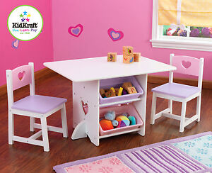 Kidkraft-Heart-Play-Table-with-storage-boxes-Kids-Wooden-Table-and-Chairs