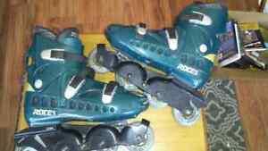 VTG-90s-1996-ROCES-BCN-Barcelona-Inline-Skates-Men-s-Size-10-TARTARUGA-FRAME
