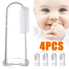 3 PCS Baby Infant Newborn Toothbrush Gum Massager Soft Silicon Fingertip Brush