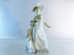 Lladro-Figur-5790-034-Maedchen-mit-Blumenkorb-034-Porzellan