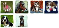 "Latch Hook Kit - ANIMALS 12"" X 12"""
