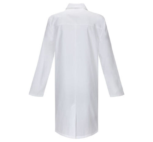 "White Dickies Scrubs EDS Professional Unisex 40/"" Lab Coat 83403 DWHZ"