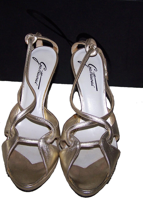 Sandalo GATTINONI Scarpe  cm.11 Aperte ORO brillantini Zeppa Elegante  Scarpe  c3697d