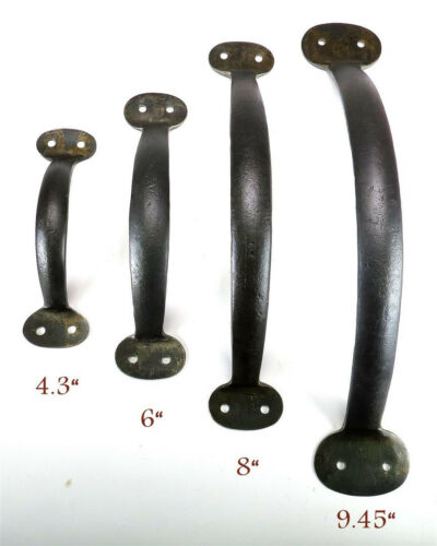 """Handmade Pull Handle 4.3/"""" Wrought Iron Bow Cabinet Door Antique Cupboard Drawer"""