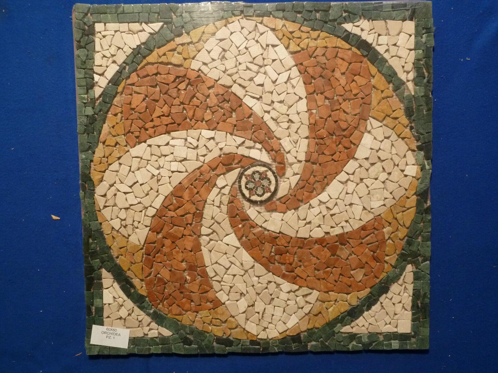 Naturstein Rosone, Antik Marmor, Fliese, Mosaik R119 Expressversand