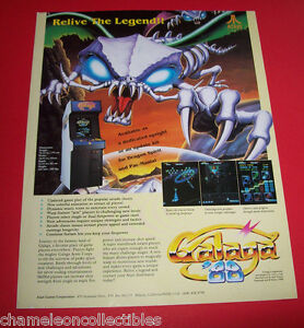 GALAGA-88-By-ATARI-1988-ORIGINAL-VIDEO-ARCADE-GAME-ADVERTISING-SALES-FLYER