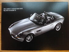 the new BMW Z8 in James Bond movie 007 The World is not Enough 1999 Postcard UA