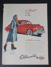 Original Print Ad 1947 OLDSMOBILE Vintage Art Smart to Own an Olds
