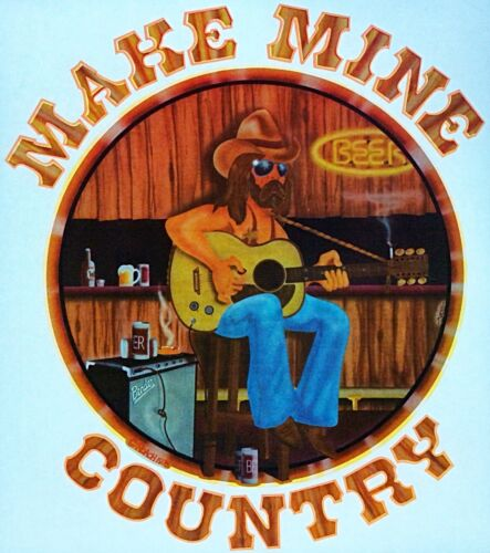 Details about  /Original Make Mine Country Cowboy Iron On Transfer