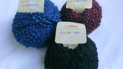 Katia Cocktail Yarn Wool//Acrylic//Poly Boucle 3 Color Choices