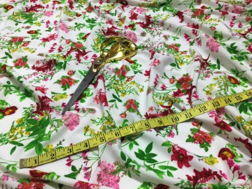 *NEW*  L//Weight Microfiber Floral 2 Print Dress//Craft Fabric  *FREE P/&P*