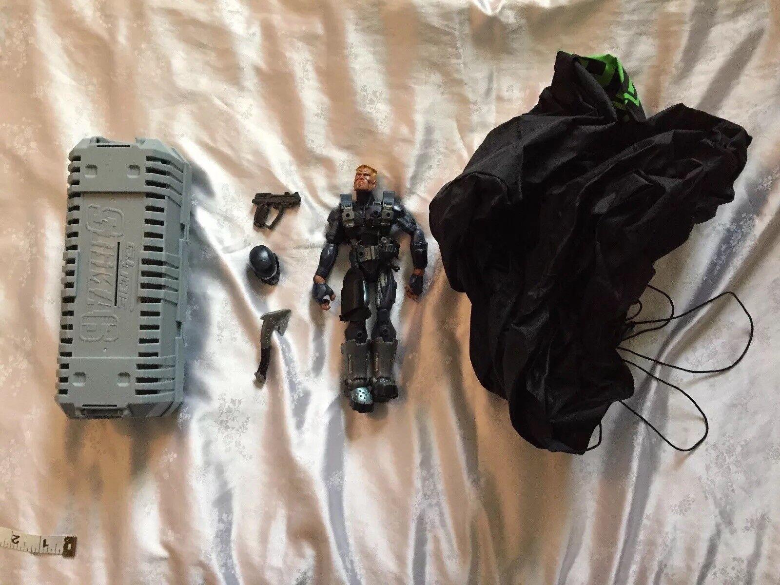"Gi Joe Sigma Six 6 action figure 8"" Duke Commander Parachute Spec Ops Paratroop"