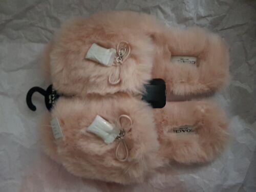 Toe peluche bnwt Us9 Pink Slider Uk7 lusso Open interni di Pantofole Size per Coach 5OwTRzPqn