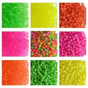 CHOOSE-COLOR-20g-7-0-3-5mm-NEON-Seed-Beads-Preciosa-Ornela-Czech-Glass