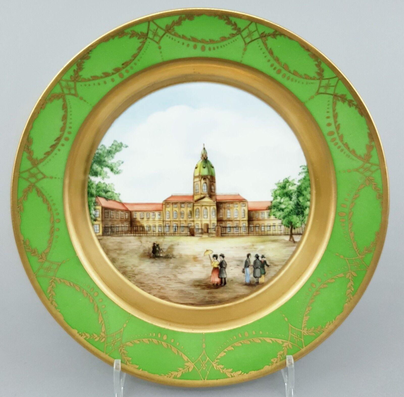 (k071) KPM vues assiette, Charlottenburger chateau Berlin, D = 17,5 CM, 1. choix