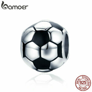 BAMOER-New-S925-Sterling-Silver-Charm-Football-love-Enamel-Bead-DIY-for-Bracelet