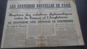 JOURNAUX-LES-DERNIERES-NOUVELLES-DE-PARIS-N-17-SAMEDI-6-JUILLET-1940-ABE