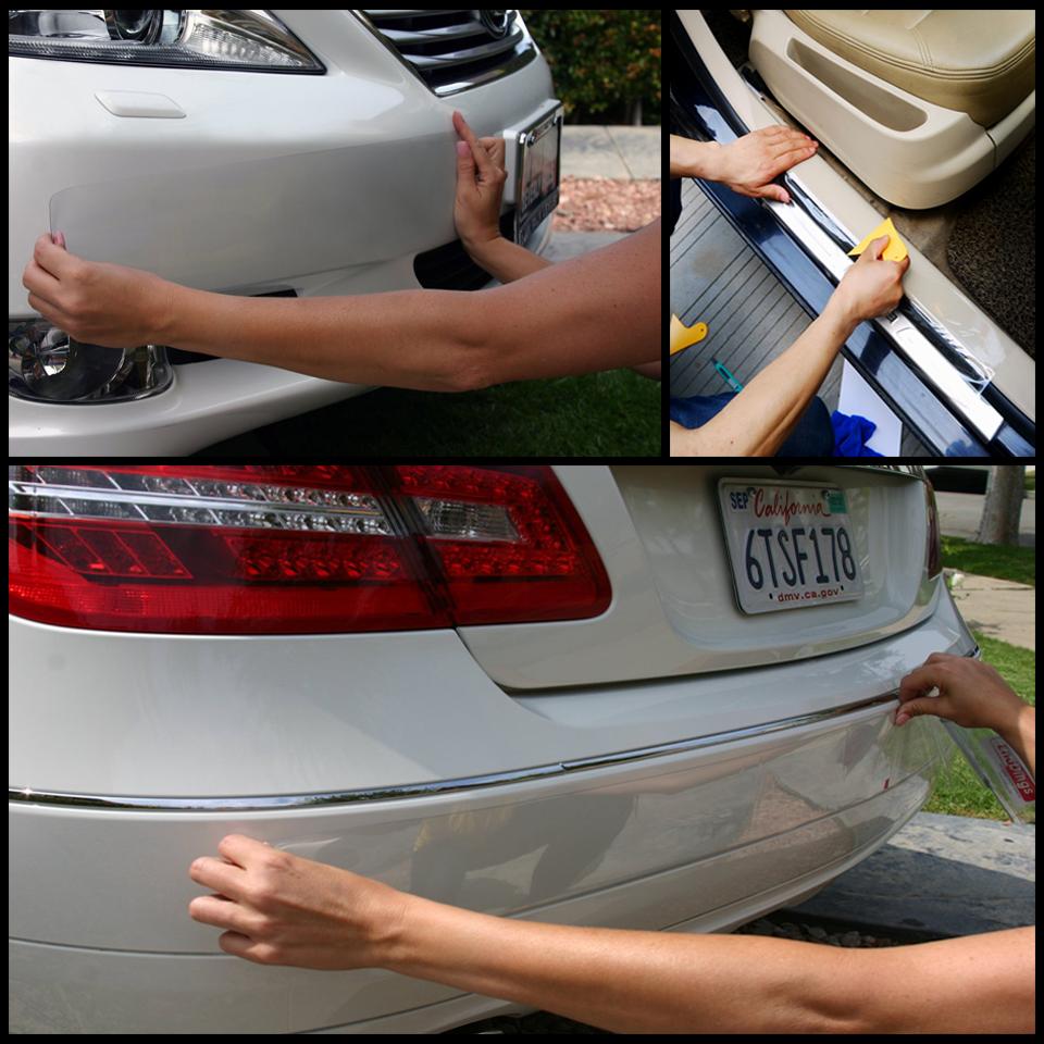 Chiaro trasparente antigraffio pellicola protettiva for Auto Corpo bordo auto Protector Auto vernice antigraffio Protezione Sticker Nano Tape Pellicola Wrapping Color Name : 15cm x 3m
