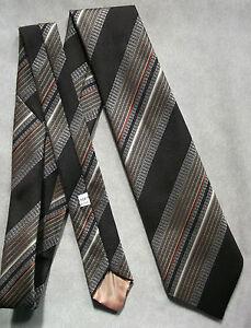 Vintage Cravate Dunn & Co Homme Cravate Rétro Fashion Marron à Rayures-afficher Le Titre D'origine Belle En Couleur
