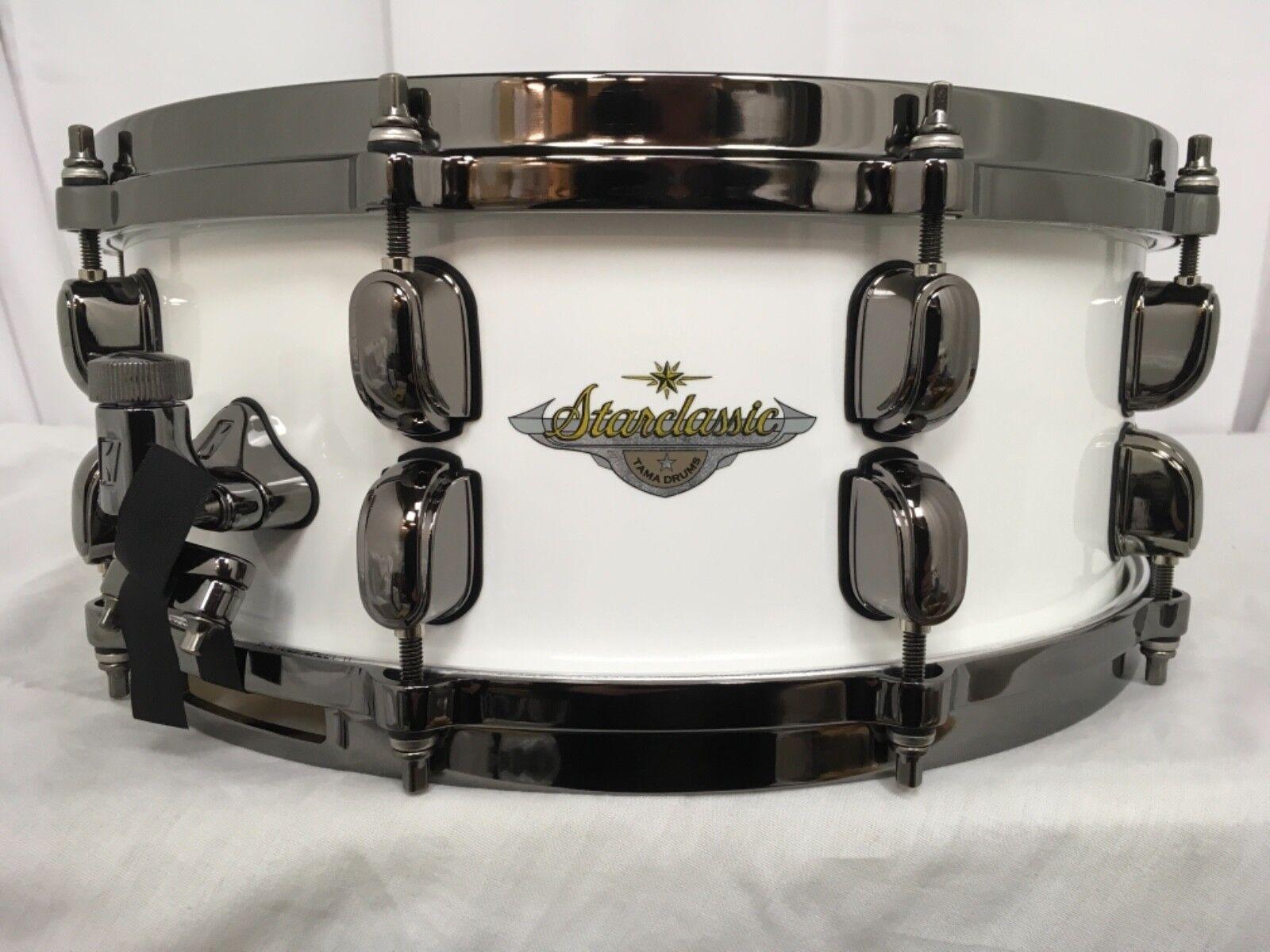 Tama Starclassic Maple 14  Dia. X 5.5  Deep Snare Drum Piano Weiß BRAND NEW