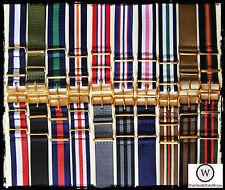 Cinturini NATO G10 GOLD: 18-20-22mm. Nylon Gold Straps. ENTRATE!