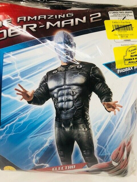 Rubies The Amazing Spider-man Spiderman 2 Electro Deluxe Costume Muscle Chest