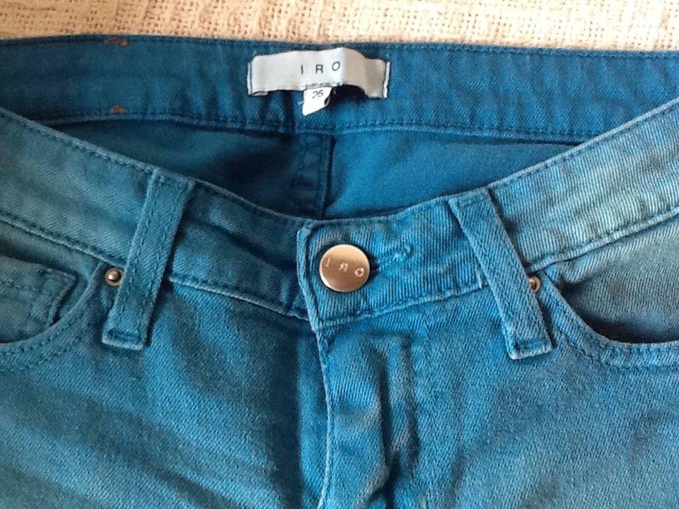 IRO blå Skinny Jarod Mid Rise Jeans Storlek 25 NWT  198