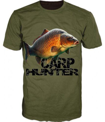 Fashion Men//Women Carp Hunter Fish Funny 3D Print Casual T-Shirt