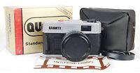 In Box Quartz 35mm Film Camera 50mm F/6 Glass Lens Plastic/toy/lomo Case