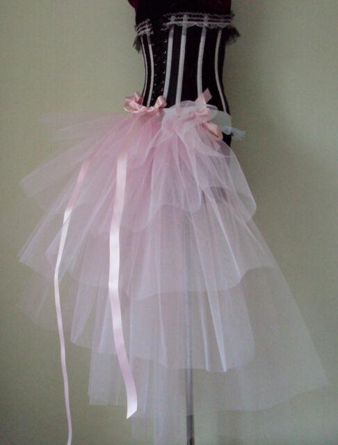 Burlesque Baby Pink  Bustle Belt tutu size XS S M L XL BRIDE Sexy