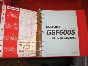 2000 2001 2002 suzuki gsf600s factory service manual bonus wiring rh ebay ie 2001 GMC Sierra Wiring Diagrams 2001 F150 Electrical Diagram