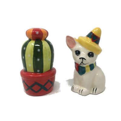 Boston Warehouse Ceramic Gnome /& Mushroom Salt /& Pepper Shakers
