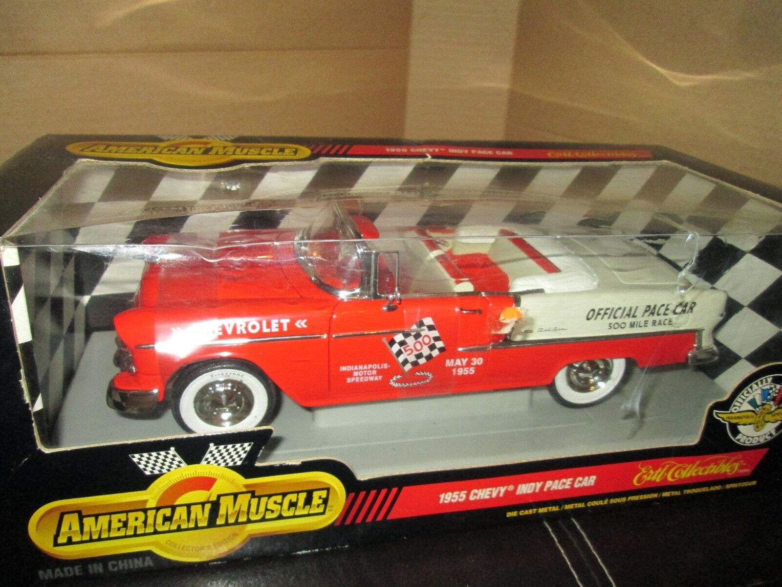 1955 belair congreenible pace car indy 500 may 30 1955 1 18 ertl american muscle