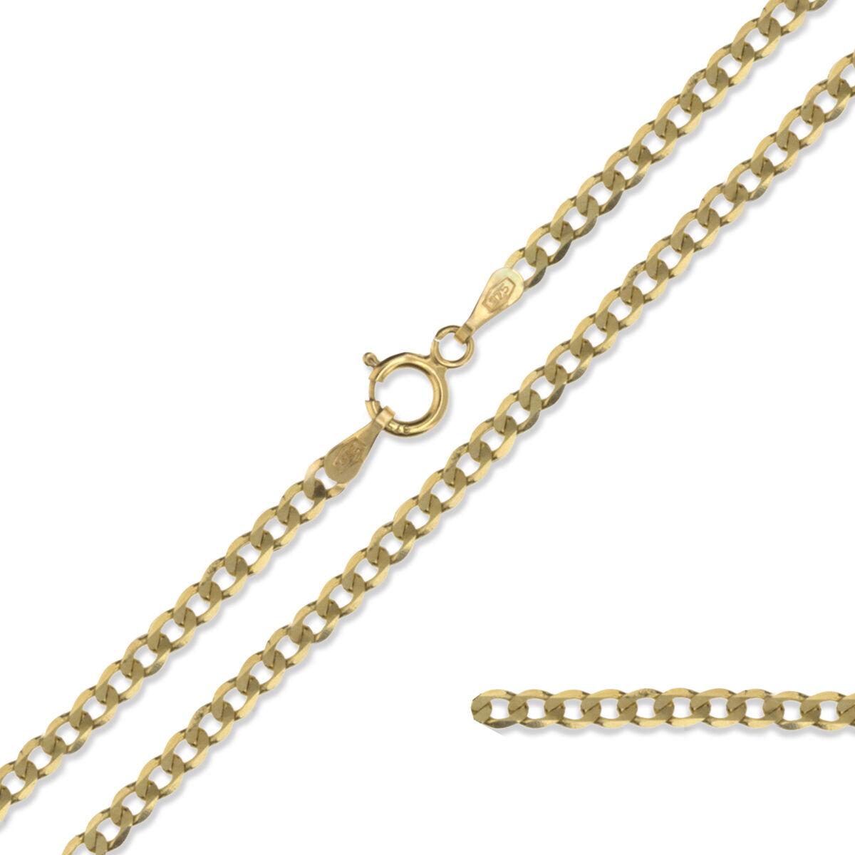 CATENA IN oro 9CT Cordolo Diamond Cut Cut Cut 375 Giallo Collana con Pendente collegamento solido Scatola Regalo 631cda