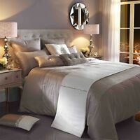 Kylie Minogue At Home Bedding Single Quilt Duvet Cover Silver Ria 137cm X 200cm
