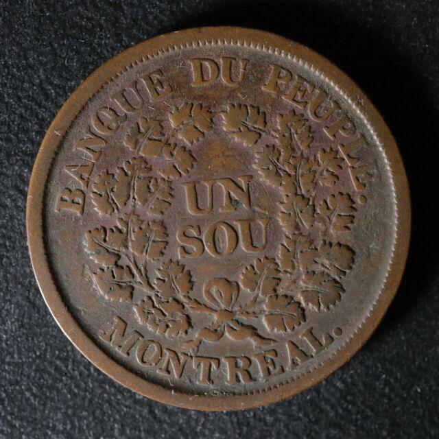 LC-5A3 Un Sou token Lower Bas Canada Quebec Banque du Peuple Breton 715