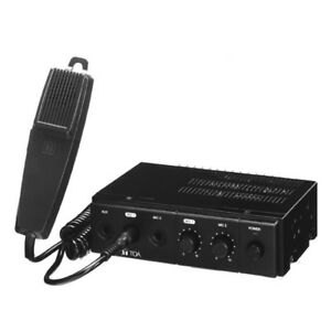 TOA-CA160-Mixer-Amplifier-60W-12V-with-Microphone