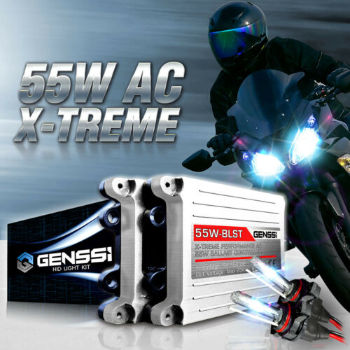 GENSSI HID Headlight Conversion Kit 6K w/Adapters for Yamaha YZF R1 R6 2009-2016