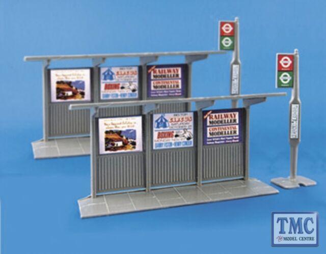 5007 Modelscene OO/HO Gauge Bus Stop & shelter 2 of each