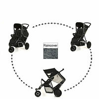 Hauck Black Freerider Double Twin Tandem Stroller Pushchair Baby Buggy