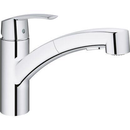 Grohe Einhand-Küchenarmatur Start Chrom Chrom Chrom | Modernes Design  | Angemessener Preis  | Elegant  | Schöne Kunst  e0353c
