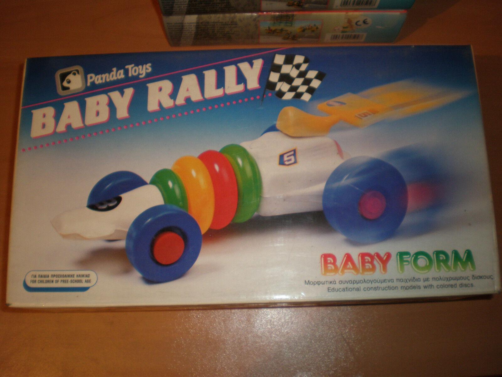 80'S GREEK BUILDING TOY PANDA BABY RALLY RACE CAR PYRAMID MIB