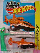 Case B/C 2014 HotWheels SKY KNIFE Copter #102 US Team∞Orange/Black∞Stunt Circuit