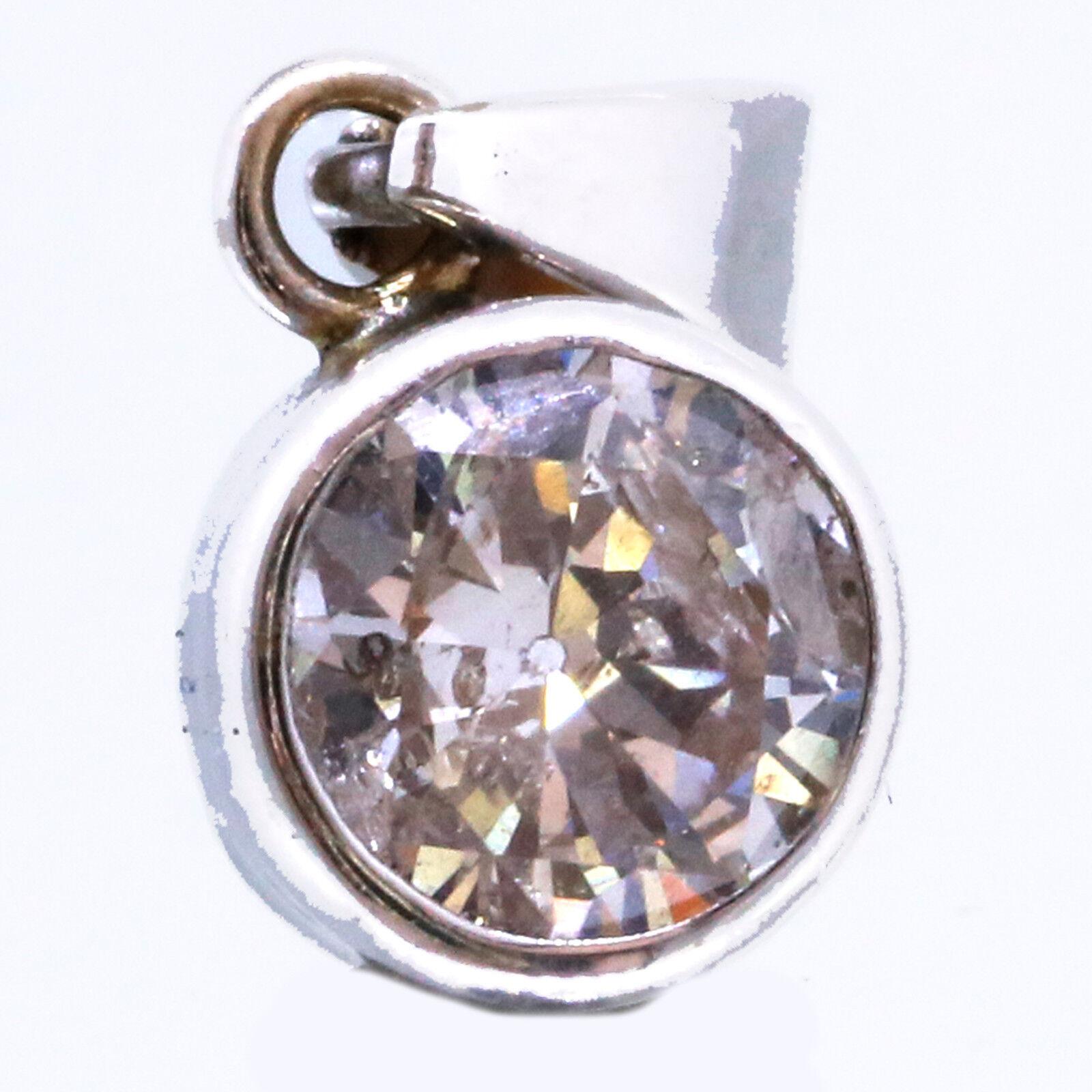 .75 Carat Round Diamond Pendant 14k White gold Natural