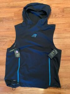 official photos c0d8e 4a868 Carolina Panthers Nike Sideline Fly Rush Sleeveless Hoodie ...
