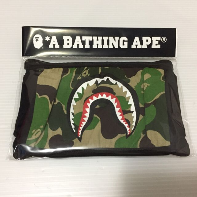 A Bathing Ape Bape Shark LOGO Green Face Mask New Now Free Shipping