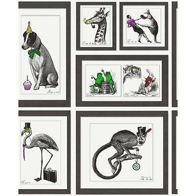 NEW HOLDEN DECOR MAD DOGS ANIMAL PICTURE FRAME RETRO VINTAGE WALLPAPER 97921